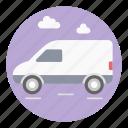 automobile, cargo service, delivery transport, delivery van, wagon icon
