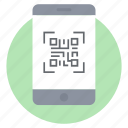 authentication, barcode, biometric, mobile code, mobile qr, qr code icon