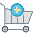 add, cart, ecommerce, plus, shop, shopping icon