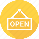 open, shop, store