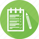 medical notes, notepad, prescription, receipt icon