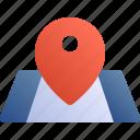 map, pin, locate, location icon