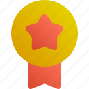 certified, rate, medal, achievement icon