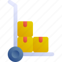 product, trolley, box, boxes, package