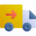 courier, send, delivery, car, truck icon