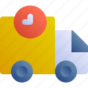 courier, time, delivery, pending, delay icon