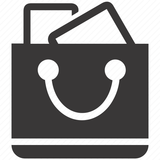 present, purchase, shopping bag icon