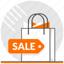 concept, ecommerce, paper bag, product, sale, sale products, shopping bag icon