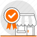 concept, ecommerce, shop, trust, trust worthy, worthy icon