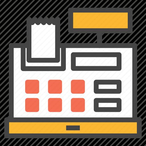 cash, checkout, machine, order, payment, register, registerretail icon