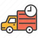 delivery, delivery history, fast truck, on time delivery, service, shipping, truck icon