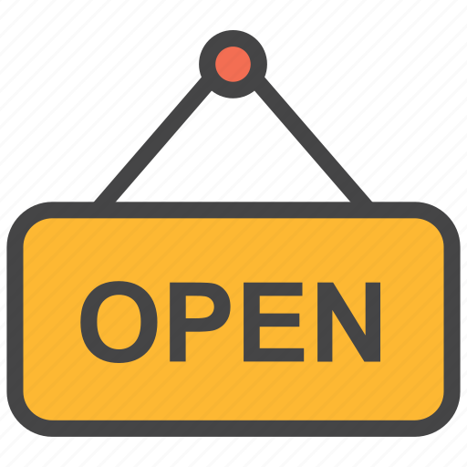 available, door handle, label, open, open shop, open tag, shop icon