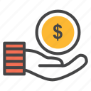 charity, donate, donation, hand money, loan, money, pay