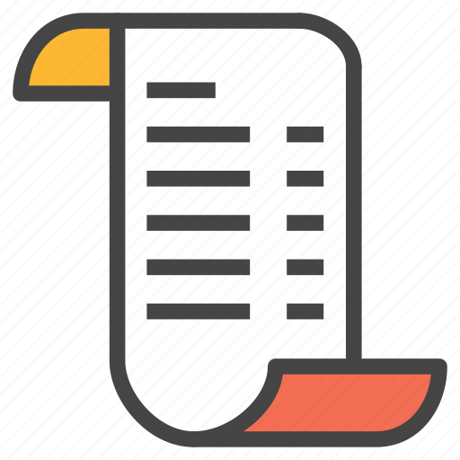 bill, bill detail, invoice, order, purchase, receipt icon