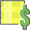 coins, coins stack, dollars, money, payment icon