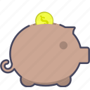 coins, dollar, money, moneybox, saving, tip icon