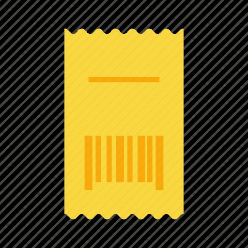 barcode, bill, receipt icon