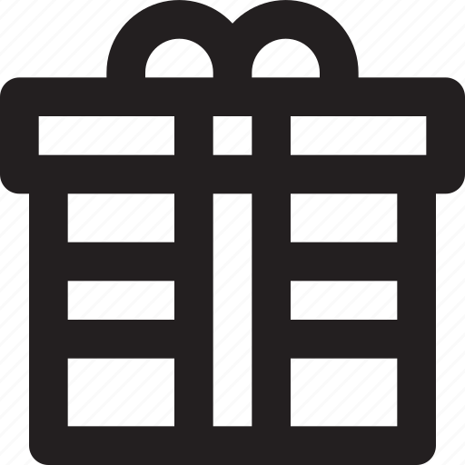 award, ecommerce, gift, outline, prize icon