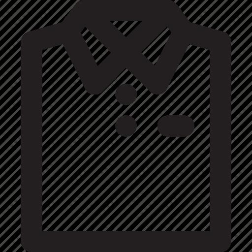 ecommerce, fashion, men, outline, shirt icon