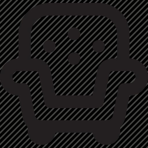 ecommerce, furniture, outline, sofa icon