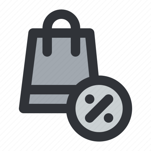 bag, cart, discount, ecommerce, sale, shopping icon