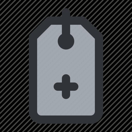 add, label, plus, shopping, tag icon