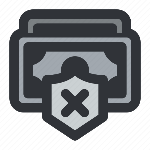 Cash, currency, money, payment, remove, shield icon - Download on Iconfinder