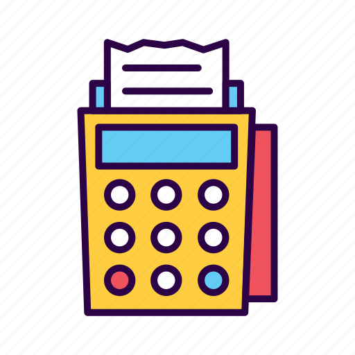 atm, card, cashier, commerce, machine, reader, receipt icon