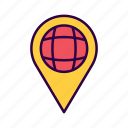 commerce, element, location, map, navigation, pin, worldwide icon