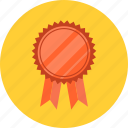 achievement, award, badge, best, emblem, prize, quality, ribbon, success icon