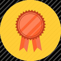achievement, award, badge, best, emblem, prize, quality, ribbon, success icon