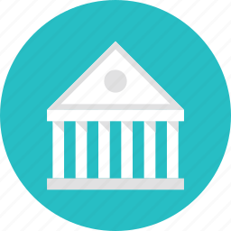 bank, banking, building, courthouse, financial, government, institution icon