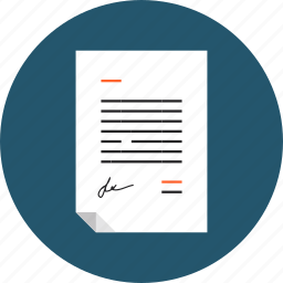 agreement, business, contract, document, paper, sheet, signature icon