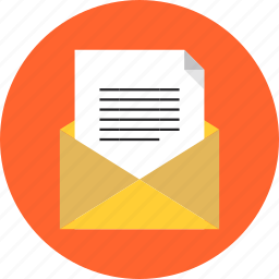 email, envelope, inbox, letter, mail, mailing, message, sms, spam icon