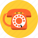 communication, contact, hotline, phone, retro, support, telephone icon
