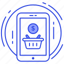 ecommerce, eshop, mobile shopping, online shopping, online store icon