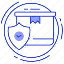 insured shipping, order check, order verification, verified package, verified shipment icon