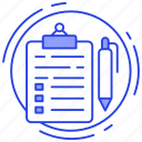 article writing, copywriting, editing, survey, writing icon