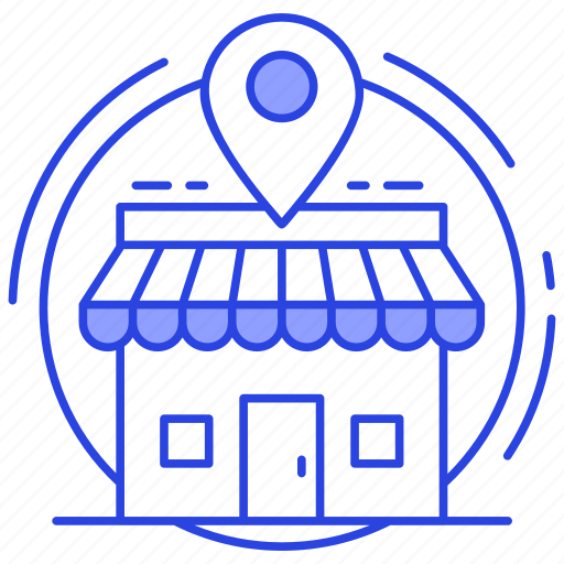 ecommerce, location map, market location, shop location, store location icon
