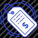 money tag, price label, price mark, price tag, tag icon