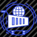 e-commerce, global market, global shopping, online shopping, worldwide shopping icon