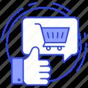 appreciation, customer rating, positive interaction, shopping feedback, shopping testimonial icon