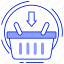 add product, add to bucket, add to cart, ecommerce, shopping icon