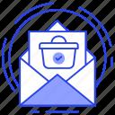 delivery service, online order, order confirmation, order receiving, purchase order receiving icon