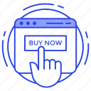 buy now, buy online, ecommerce, eshopping, online purchasing, online shopping, shopping website icon