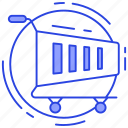 commerce, pushcart, shopping, shopping cart, shopping trolley icon