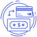 card payment, cash payment, digital payment, online banking, payment method icon