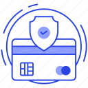 card payment safety, card protection, card security, credit card lock, secure payment icon