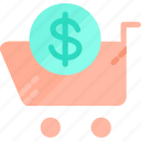 buy, buying, cart, fashion, give, shop, shopping icon