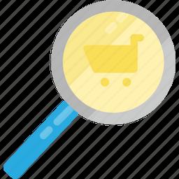 buy, buying, fashion, search, searching, shop, shopping icon